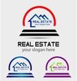 Creative abstract real estate logo vector image vector image