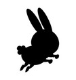 cute rabbit cartoon sweet animal funny vector image