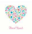 Decorative floral heart Doodle for design greeting vector image