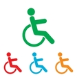 Disabled sign Colorfull set vector image vector image