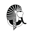 Egyptian pharaoh icon simple style vector image vector image