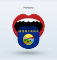 electoral vote of montana abstract mouth vector image