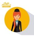 flight attendant design vector image vector image