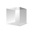 Four transparent gray glass cubes eps10
