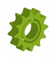 gear isometric isolated icon design vector image