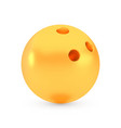 golden bowling award concept shiny realistic vector image