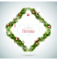 Greeting Card With Christmas Attributes vector image vector image
