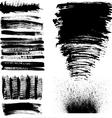 hand drawn brush strokes vector image vector image