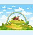 happy farm vector image vector image