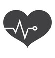 heart pulse glyph icon fitness and sport vector image vector image