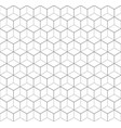 heaxgon seamless pattern doubled network of thin vector image vector image