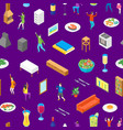 home party concept seamless pattern background vector image vector image