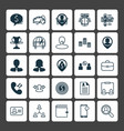 human icons set collection of job applicants vector image vector image