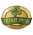 Irish pub label design vector image