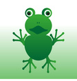 isolated green frog animal looks at you eps10 vector image vector image