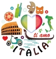 Italy Symbols of cities set vector image vector image