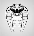 King Cobra Head vector image vector image