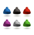 Knitted cap icon set vector image vector image