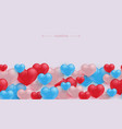 love and friendship seamless border pattern with vector image