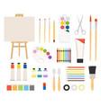 painter art tools paint arts tool kit vector image vector image