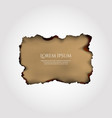 parchment old paper with burnt vector image