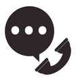 phone sign with conversation bubble icon vector image