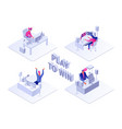 play to win flat isometric vector image vector image
