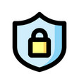 privacy icon isolated on white background from vector image vector image