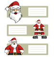 Santa Claus blank labels vector image