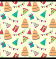 seamless happy birthdayfestive pattern with vector image
