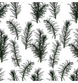 Seamless pattern with fir-tree branches vector image
