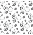 seamless pattern with image fruit vector image vector image