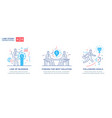 set of concept with business concept vector image vector image