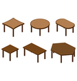 Set of isometry tables vector image