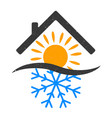 snowflake and sun home vector image vector image