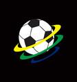 soccer football logo template vector image vector image
