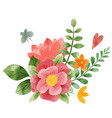 spring abstract floral bouquet tiny floral art vector image vector image