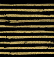 striped pattern black and gold brush stripes vector image vector image