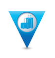 suitcases icon map pointer blue vector image vector image