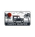 surfing logo emblem vintage hand drawn travel vector image vector image