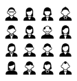 User Icons Set vector image vector image