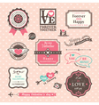 Valentines day Elements labels and frames Vintage vector image