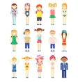Various Smiling Boys and Girls Graphics vector image vector image