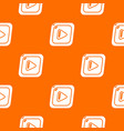 video pattern orange vector image vector image