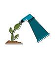 watering on flower vector image vector image