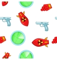 Weaponry pattern cartoon style vector image