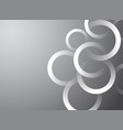 white gray background with circles vector image