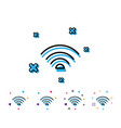 wifi line icon wi-fi internet sign vector image