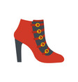 woman shoes icon flat vector image vector image
