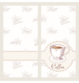 Coffee house menu template design in Hand drawn vector image